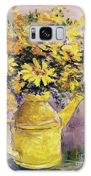 Yellow Pot Of Sunshine Galaxy Case