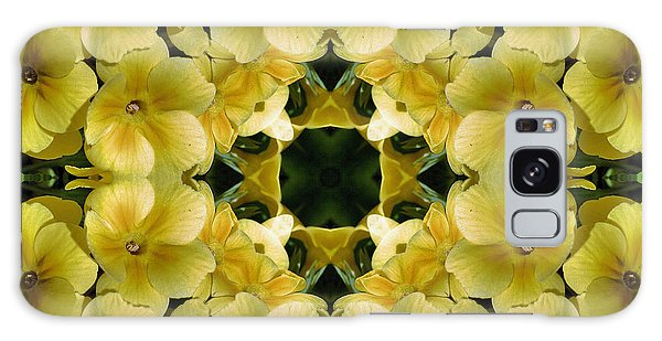 Yellow Primrose Kaleidoscope Galaxy Case