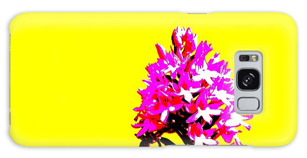 Yellow Pyramid Orchid Galaxy Case