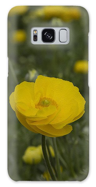 Yellow Ranunculus Flowers Galaxy Case