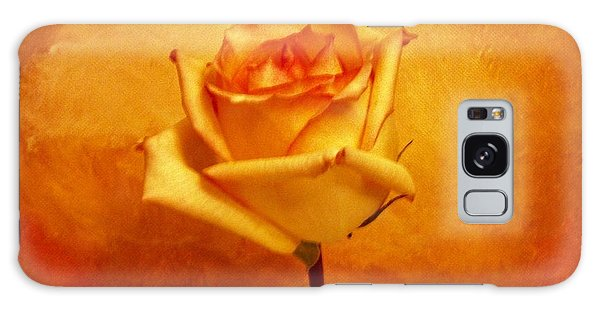 Yellow Red Orange Tipped Rose Galaxy Case by Marsha Heiken