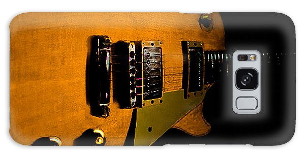 Galaxy Case featuring the digital art Yellow Relic Guitar Hover Series by Guitar Wacky