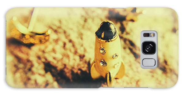 Decorative Galaxy Case - Yellow Rocket On Planetoid Exploration by Jorgo Photography - Wall Art Gallery