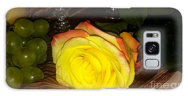 Yellow Rose And Grapes Galaxy Case