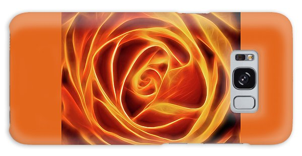 Yellow Rose Glow Square Galaxy Case by Terry DeLuco
