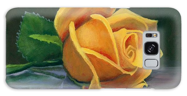 Yellow Rose Galaxy Case by Janet King