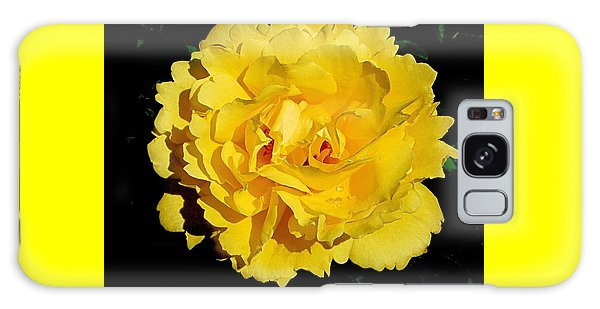 Yellow Rose Kissed By The Rain Galaxy Case