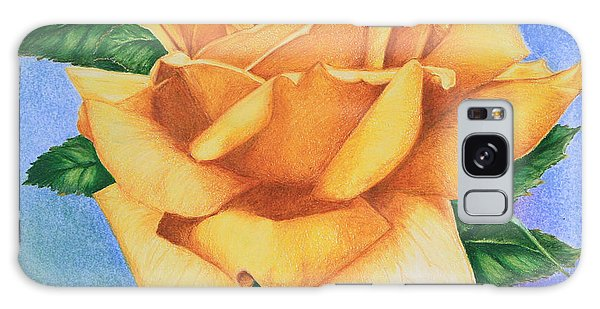Yellow Rose Galaxy Case by Marna Edwards Flavell