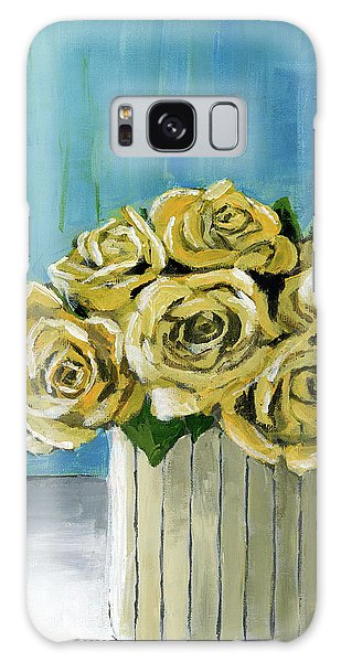 Yellow Roses In Vase Galaxy Case