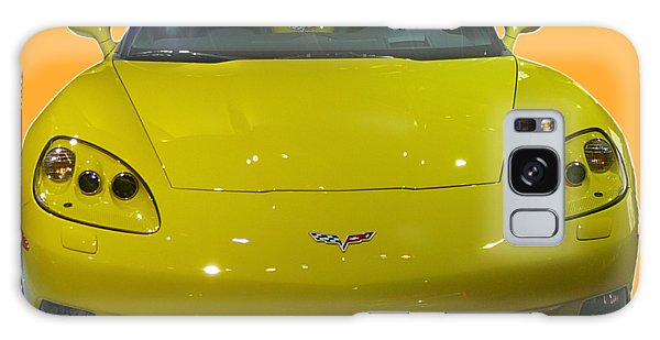 Yellow Sports Car Front Galaxy Case