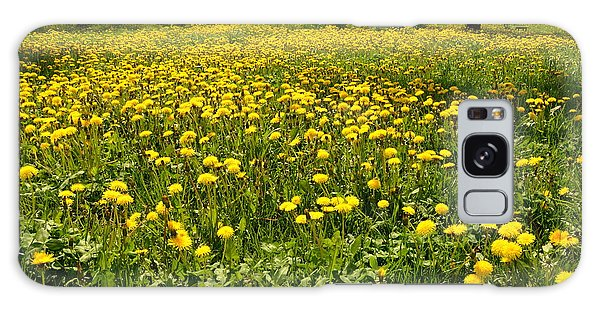 Yellow Spring Carpet Galaxy Case by Henryk Gorecki
