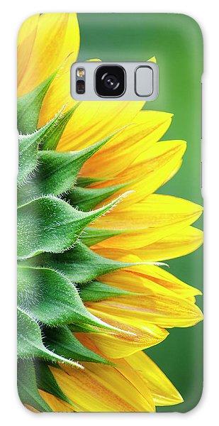 Yellow Sunflower Galaxy Case by Christina Rollo