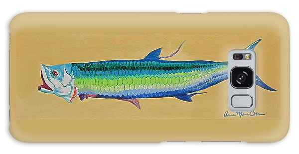 Yellow Tarpon Galaxy Case by Anne Marie Brown
