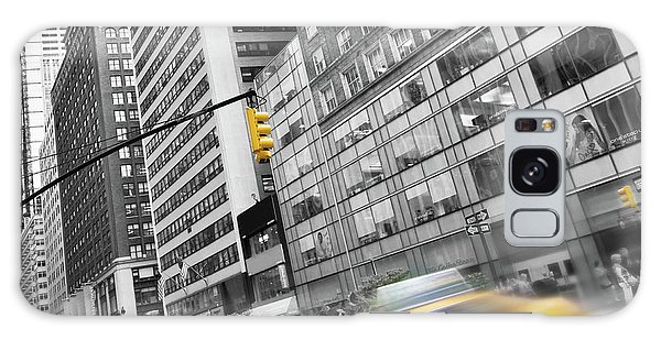 New York City Taxi Galaxy Case - Yellow Taxi Nyc by Delphimages Photo Creations