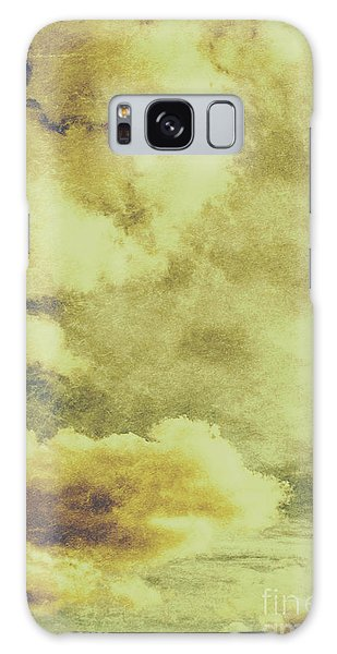 Cloudscape Galaxy Case - Yellow Toned Textured Grungy Cloudscape by Jorgo Photography - Wall Art Gallery