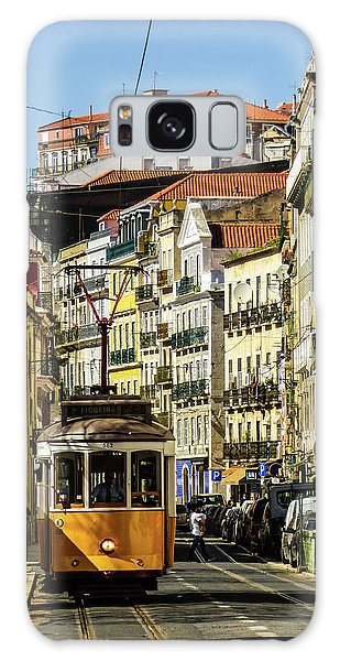 Yellow Tram In Downtown Lisbon, Portugal Galaxy Case