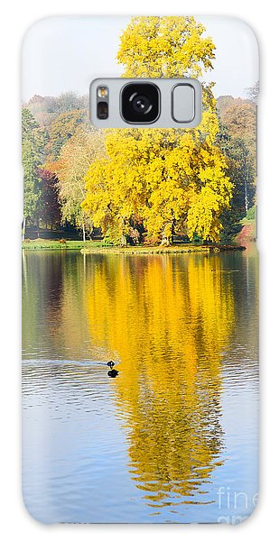 Yellow Tree Reflection Galaxy Case