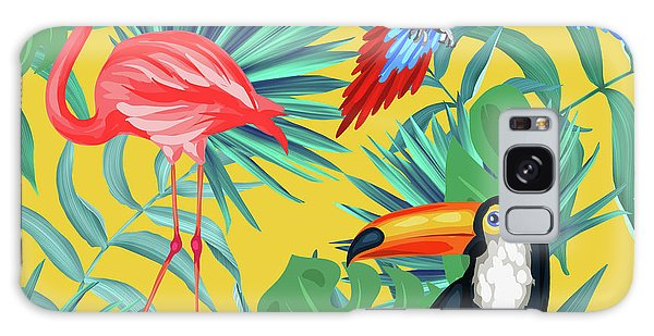 Tree Galaxy Case - Yellow Tropic  by Mark Ashkenazi