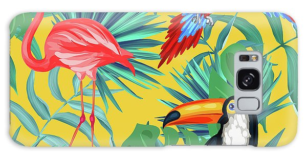 Bird Galaxy Case - Yellow Tropic  by Mark Ashkenazi