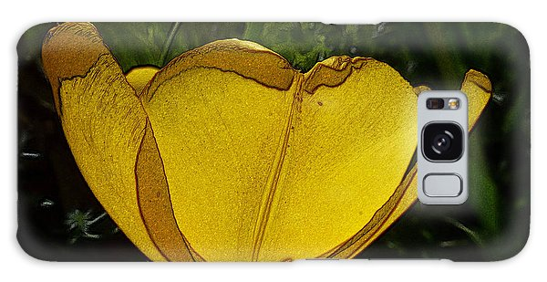 Yellow Tulip 2 Galaxy Case by Jean Bernard Roussilhe