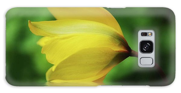 Yellow Tulip Galaxy Case by Elaine Manley