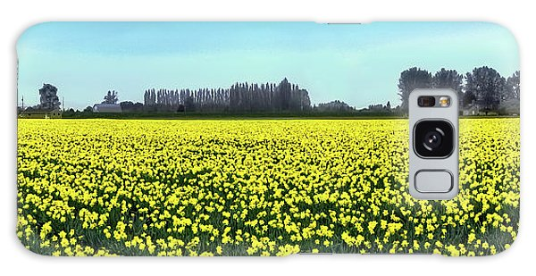 Yellow Tulip Fields Galaxy Case by David Patterson