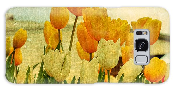Yellow Tulips Galaxy Case