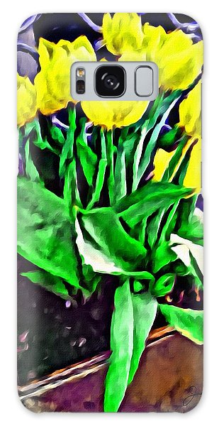 Galaxy Case featuring the painting Yellow Tulips by Joan Reese