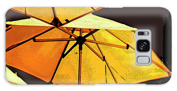 Yellow Umbrellas Galaxy Case by Deborah Nakano