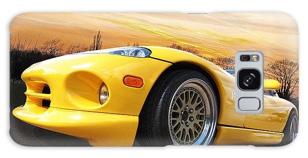 Yellow Viper Rt10 Galaxy Case by Gill Billington