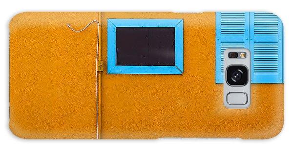 Yellow Wall, Blue Trim Galaxy Case