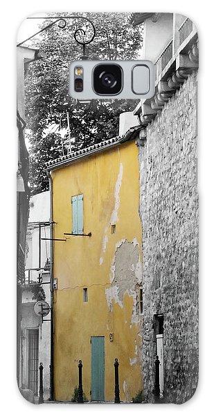 Galaxy Case featuring the photograph Yellow Wall by Rasma Bertz