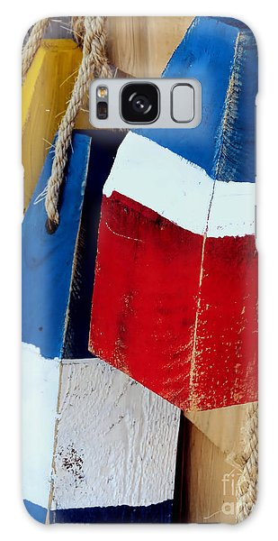 Yellow White Blue Red Galaxy Case