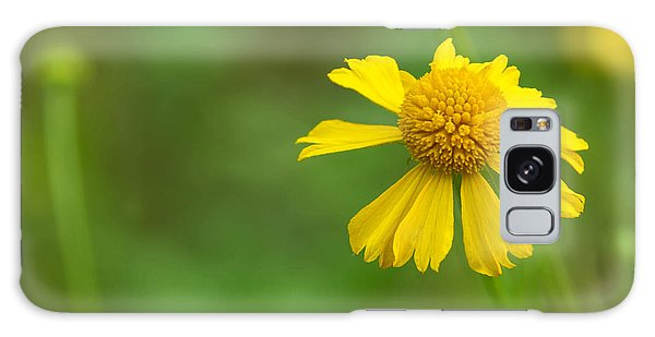 Yellow Wildflower Galaxy Case by Christopher L Thomley