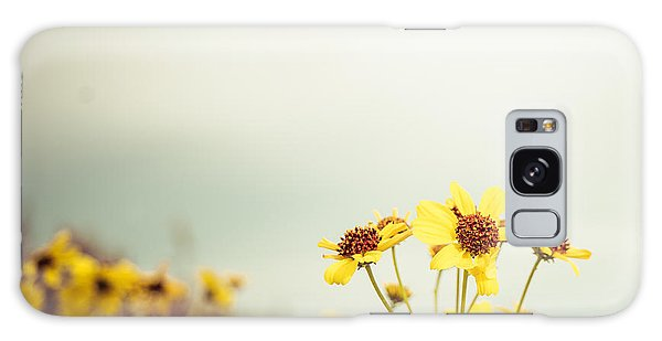 Yellow Wildflowers Galaxy Case by Mary Hone