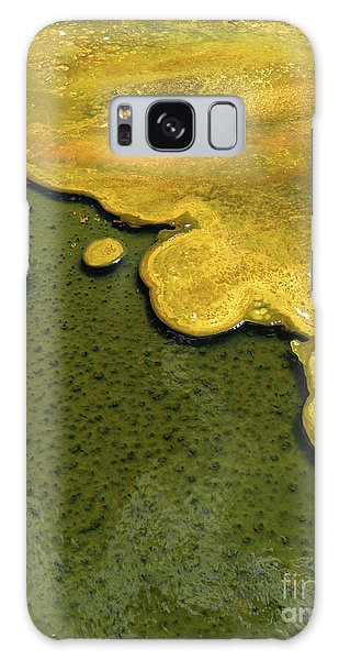Yellowstone Art. Yellow And Green Galaxy Case by Ausra Huntington nee Paulauskaite
