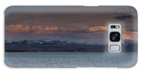 Yellowstone Lake At Sunset Galaxy Case