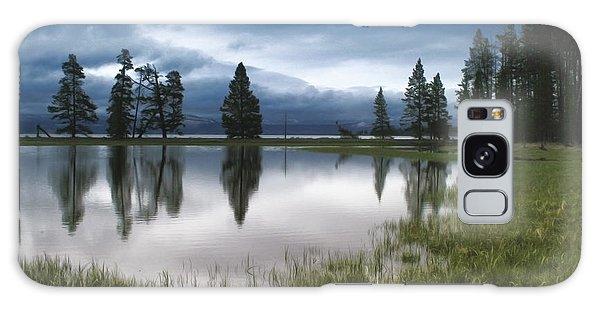 Yellowstone Lake Reflection Galaxy Case