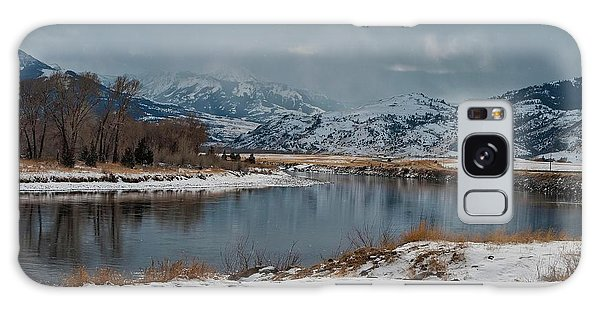 Yellowstone River In Light Snow Galaxy Case