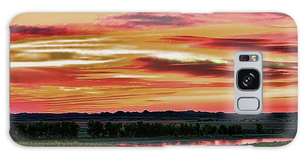 Yellowstone River Wildfire Sunset Galaxy Case