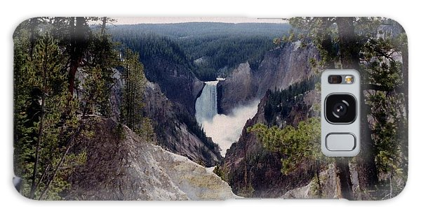 Yellowstone Water Fall Galaxy Case