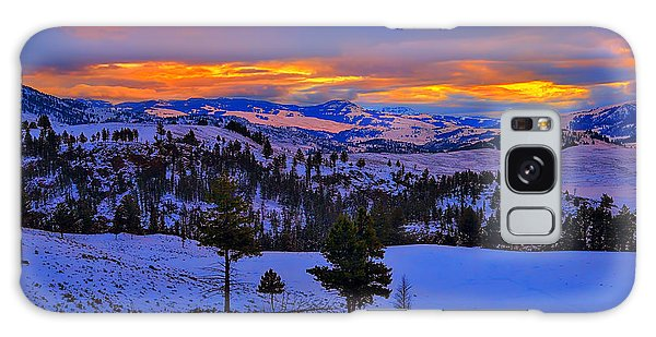 Yellowstone Winter Morning Galaxy Case by Greg Norrell