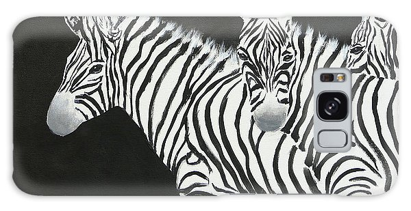 Mama Africa Galaxy Case - Yin And Yang Triptych White On Black by Mohamed Hirji