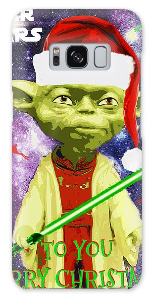 Yoda Wishes To You Merry Christmas Galaxy Case