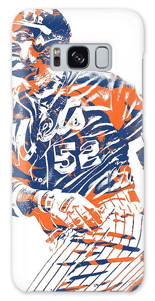 New York Mets Galaxy Case - Yoenis Cespedes New York Mets Pixel Art 10 by Joe Hamilton