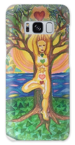 Yoga Tree Pose Galaxy Case