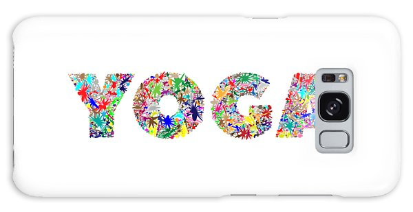 Yoga Word Art Galaxy Case