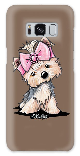 Yorkie In Bow Galaxy Case