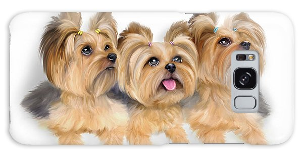 Yorkie Trio Galaxy Case