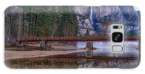 Yosemite Falls At The Swinging Bridge Galaxy Case